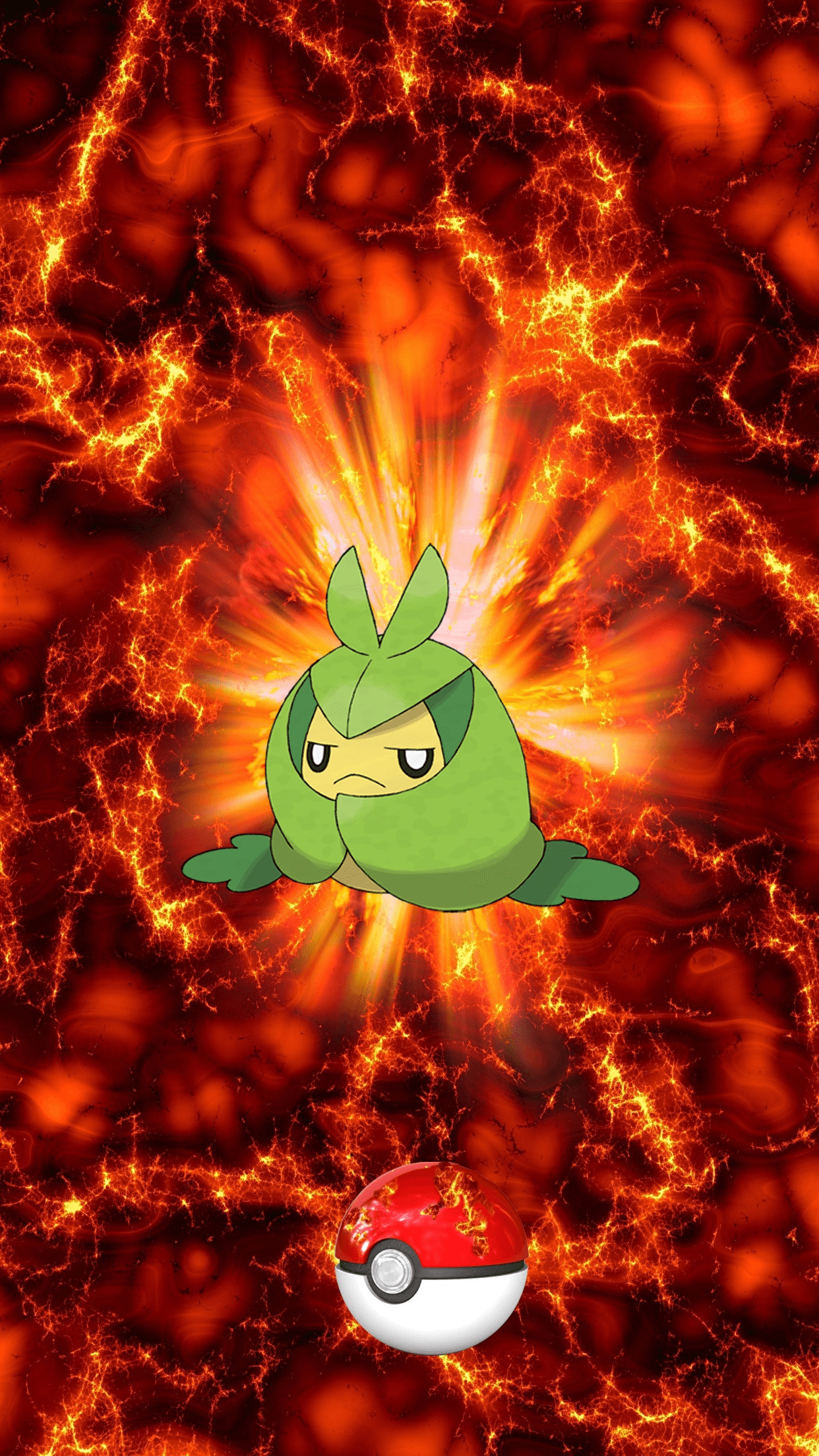 541 Fire Pokeball Swadloon Kurumayu 102 Sewaddle | Wallpaper