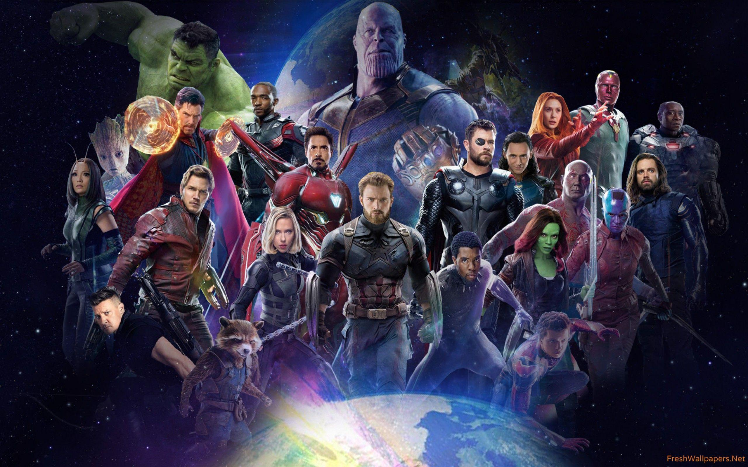 Avengers Infinity War 2018 All Characters Poster wallpapers