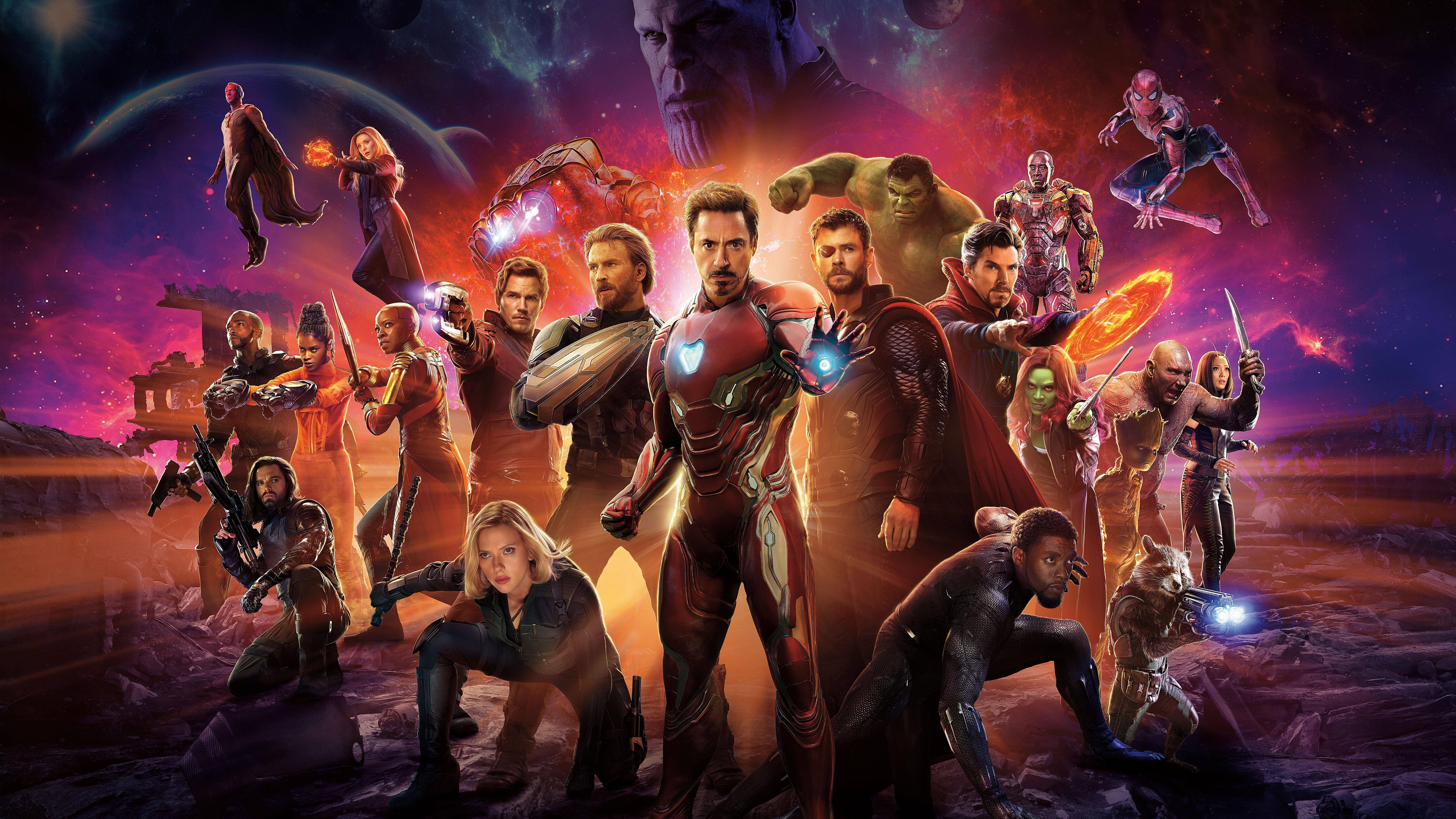 Wallpapers Avengers Infinity War Superheroes Cast 4K 8K Avengers