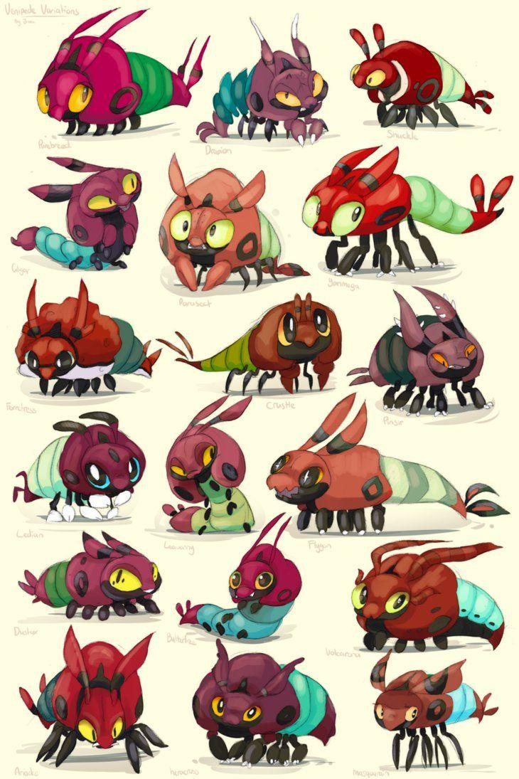 Venipede Variations by fizzycurrant on DeviantArt