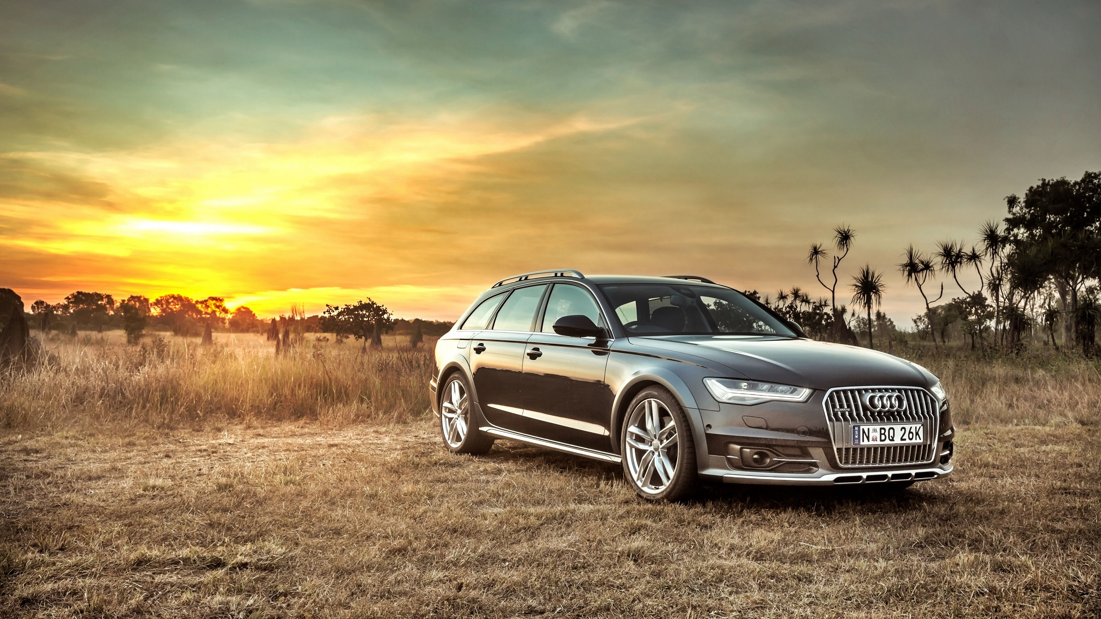 Download wallpapers 3840x2160 audi, a6, allroad, side view, hdr 4k