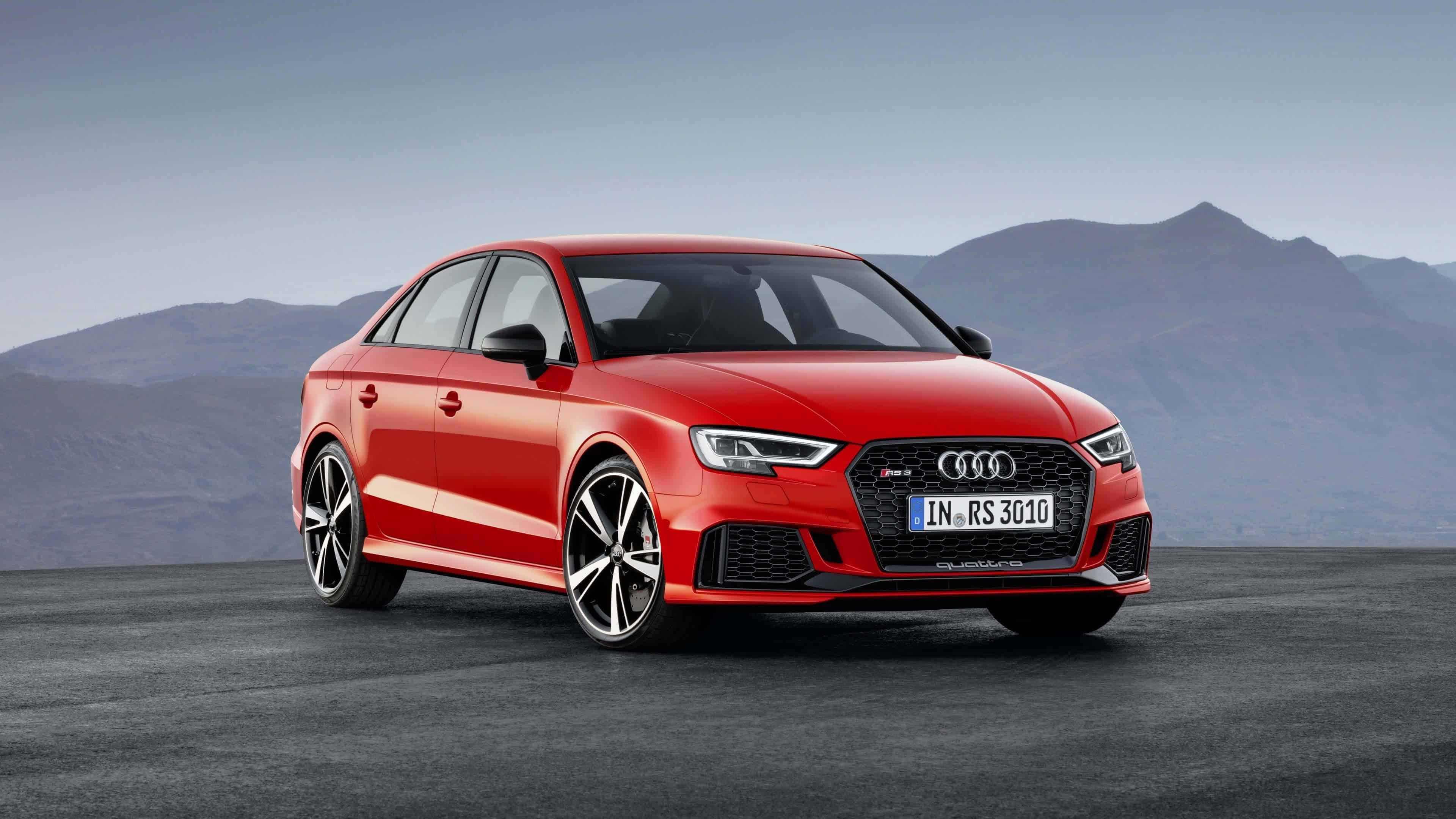 Audi RS3 Red Sportback UHD 4K Wallpapers
