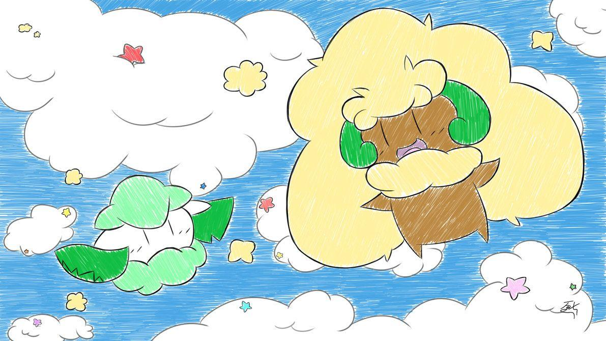 Whimsicott and Cottonee. by FaXaNadu790