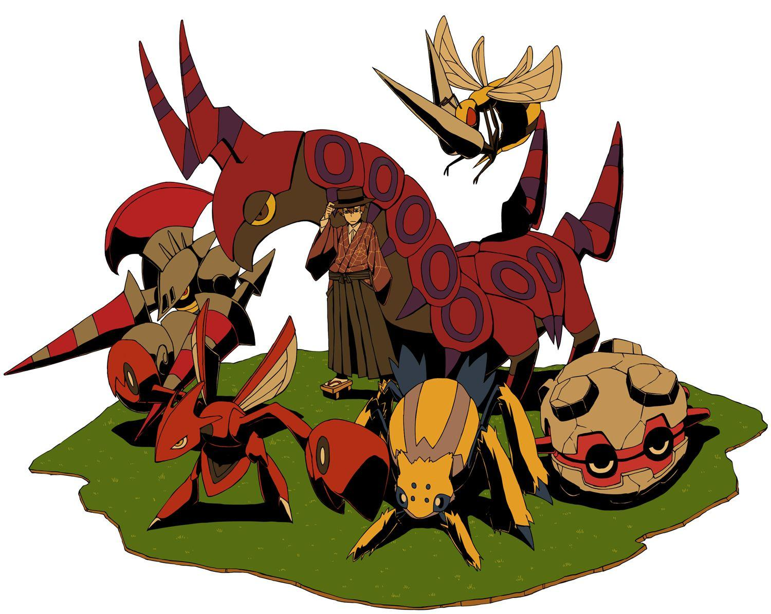 all male beedrill blue eyes brown hair escavalier forretress ...