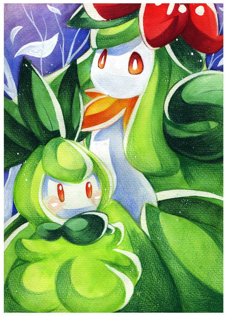 30DoD: Petilil and Lilligant by Chibi