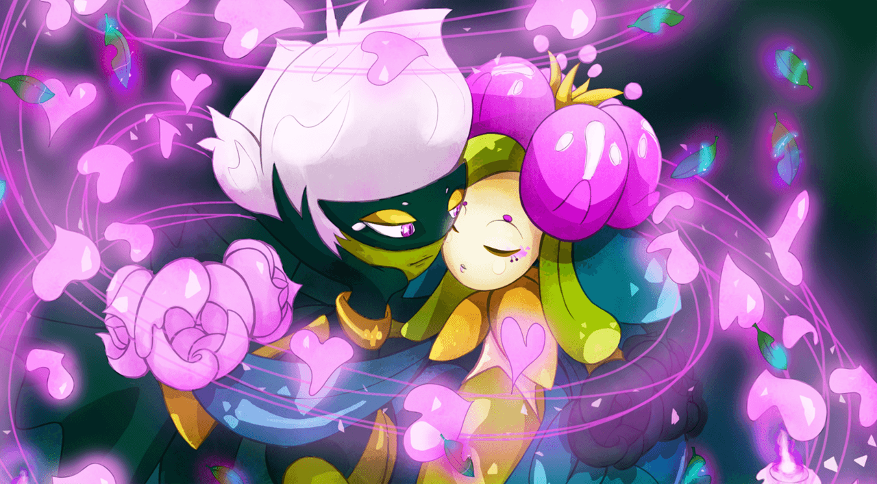 Roserade and Lilligant by Spagettiurchin