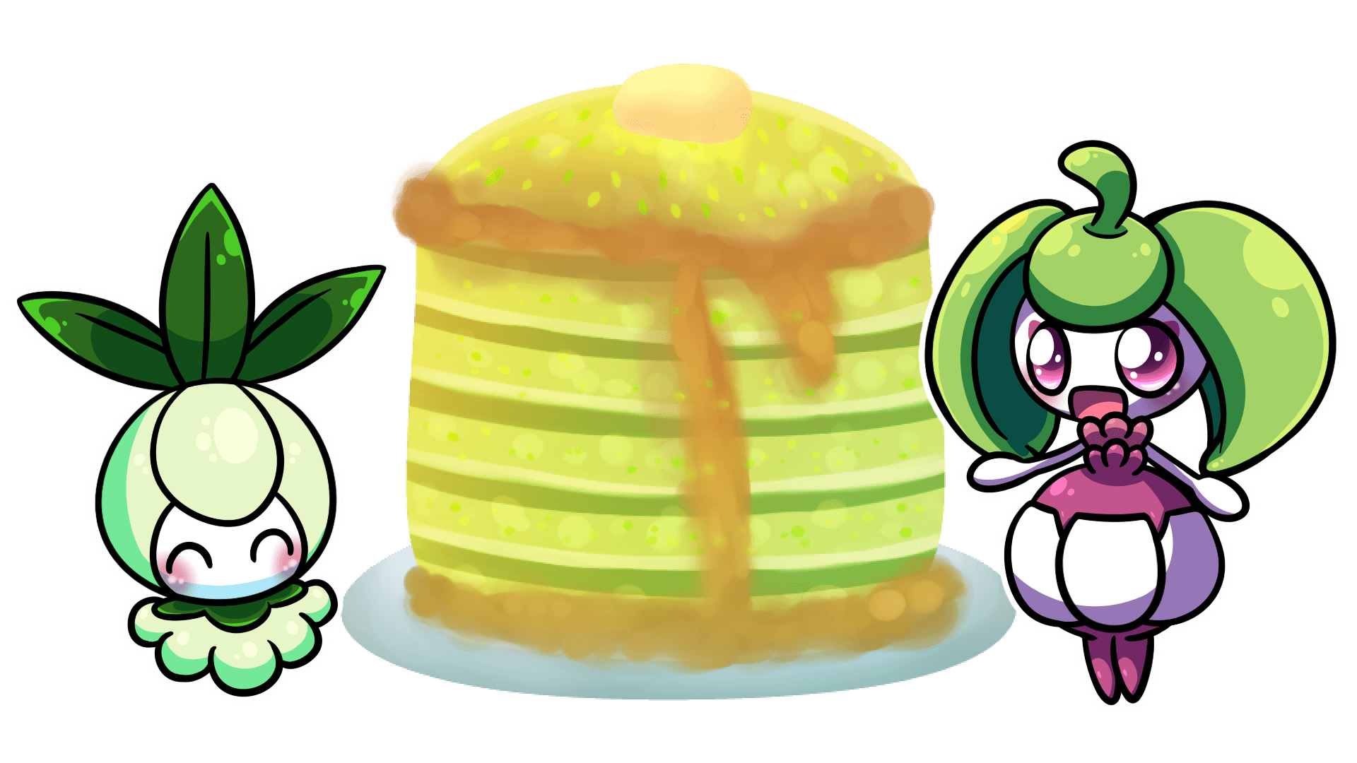 C: Petilil and Steenee by nekonxra