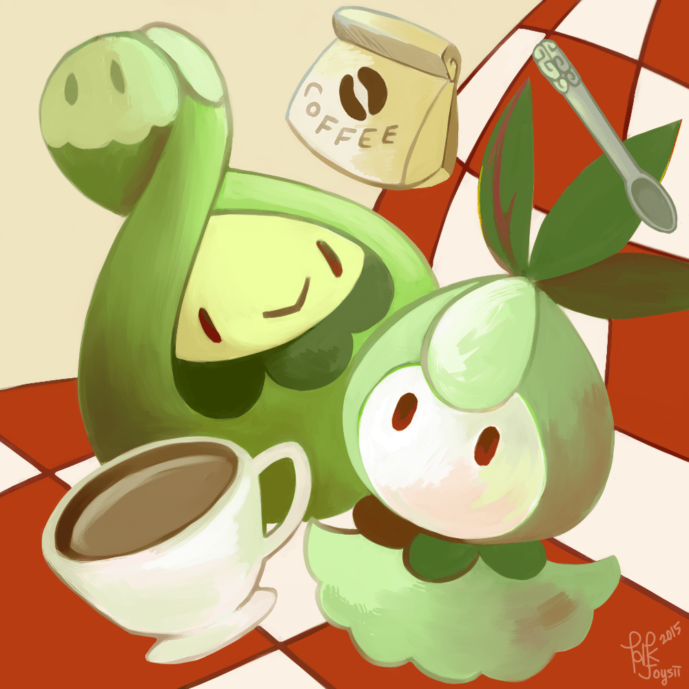 Budew and Petilil by Joysii