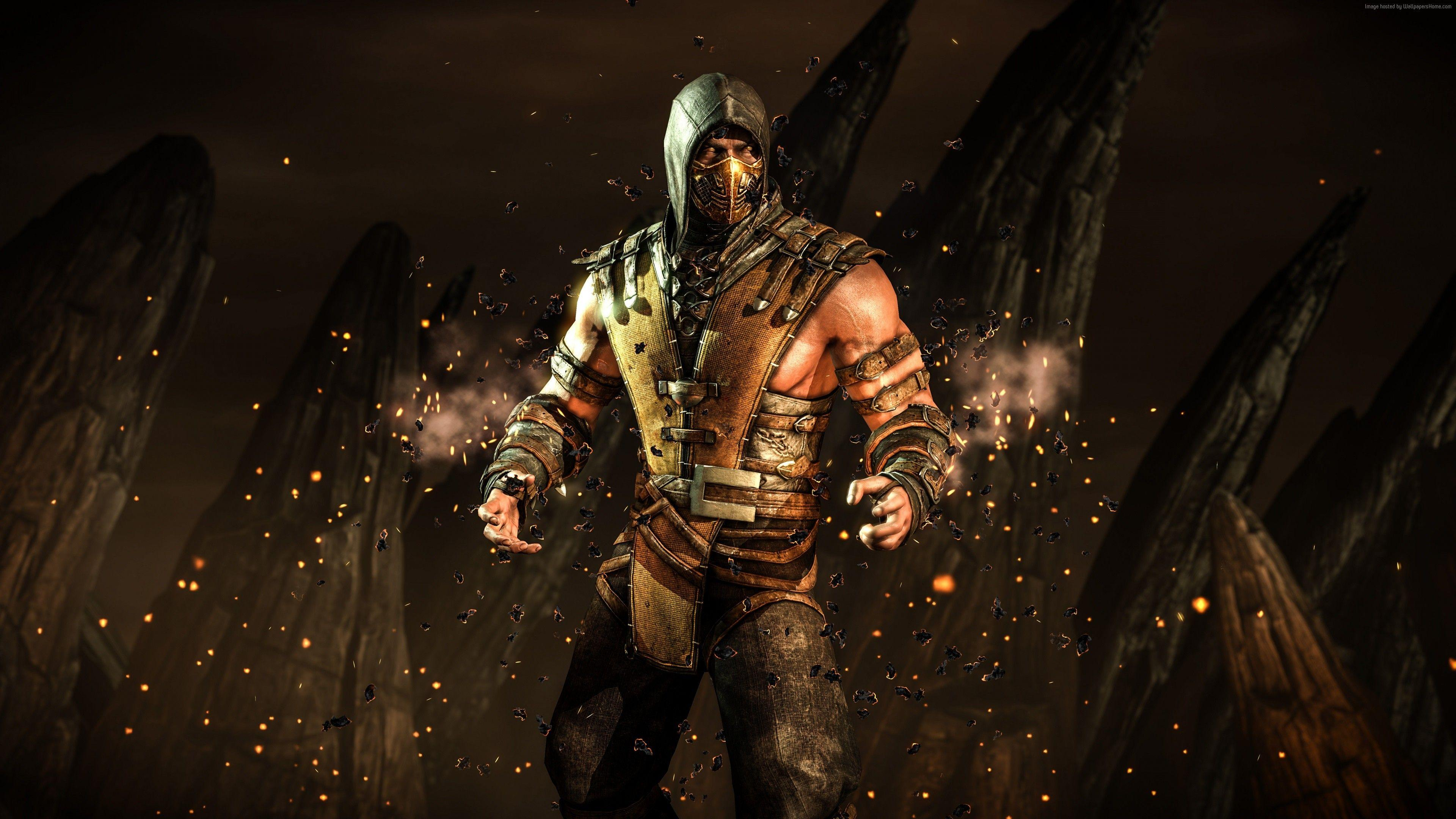 Wallpapers MORTAL KOMBAT X, scorpion, fighting, PS4, Xbox One, Games