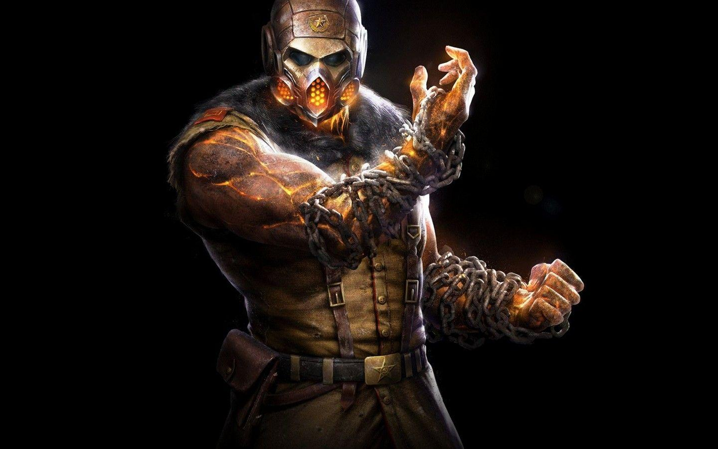 Download 1440x900 Mortal Kombat X, Scorpion, Kold War Wallpapers for