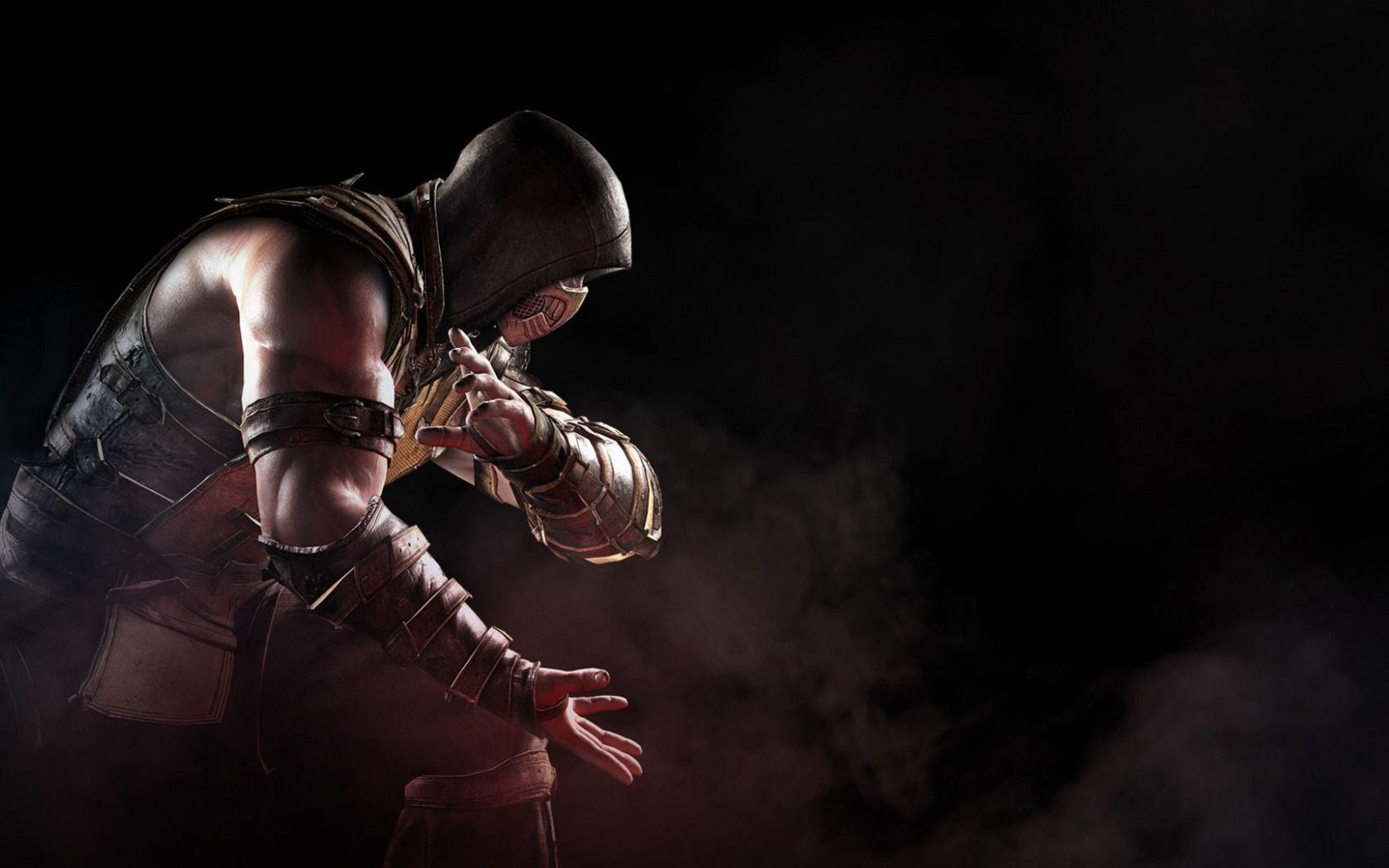 Download wallpapers 1680x1050 mortal kombat x, scorpion, soldier, art