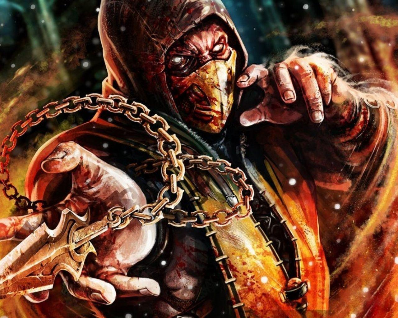 1280x1024 Scorpion Mortal Kombat X desktop PC and Mac wallpapers
