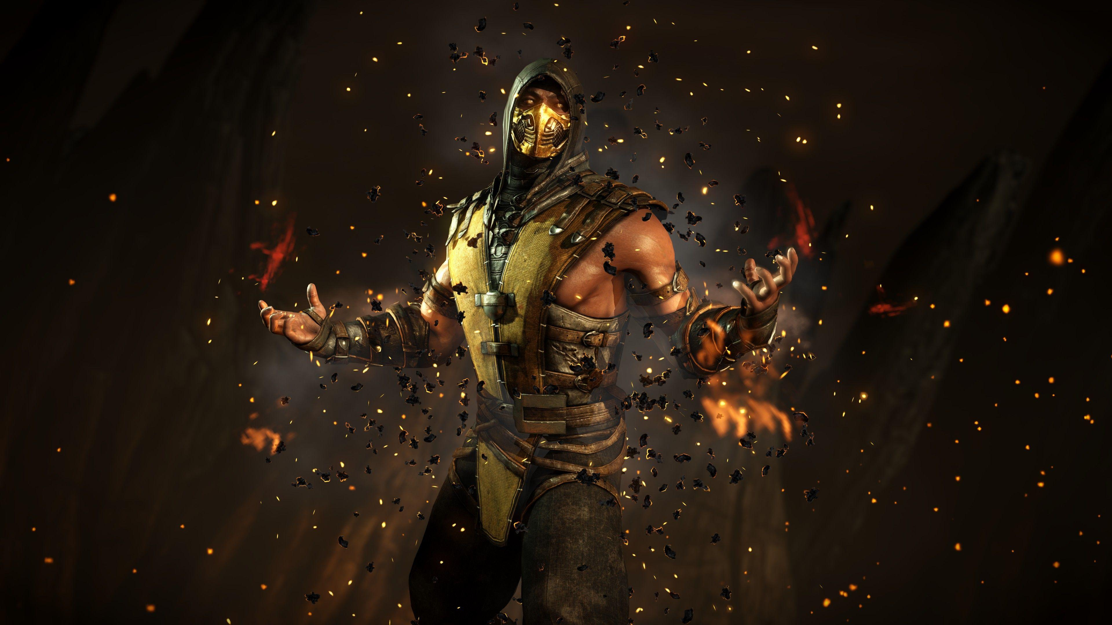 mortal kombat x scorpion character mortal kombat wallpapers and