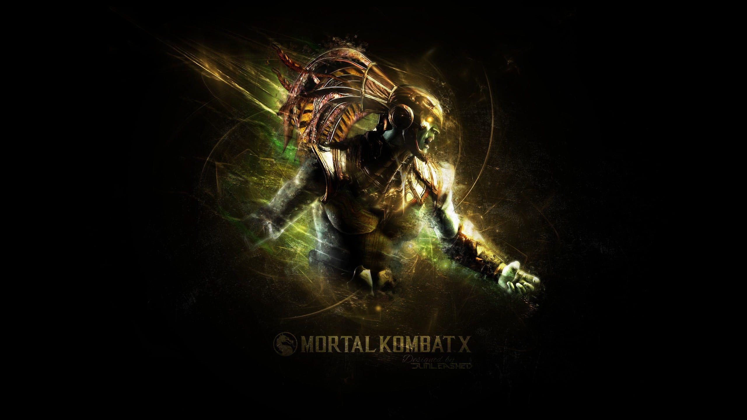 Mortal Kombat X Scorpion illustration, video games, Mortal Kombat X