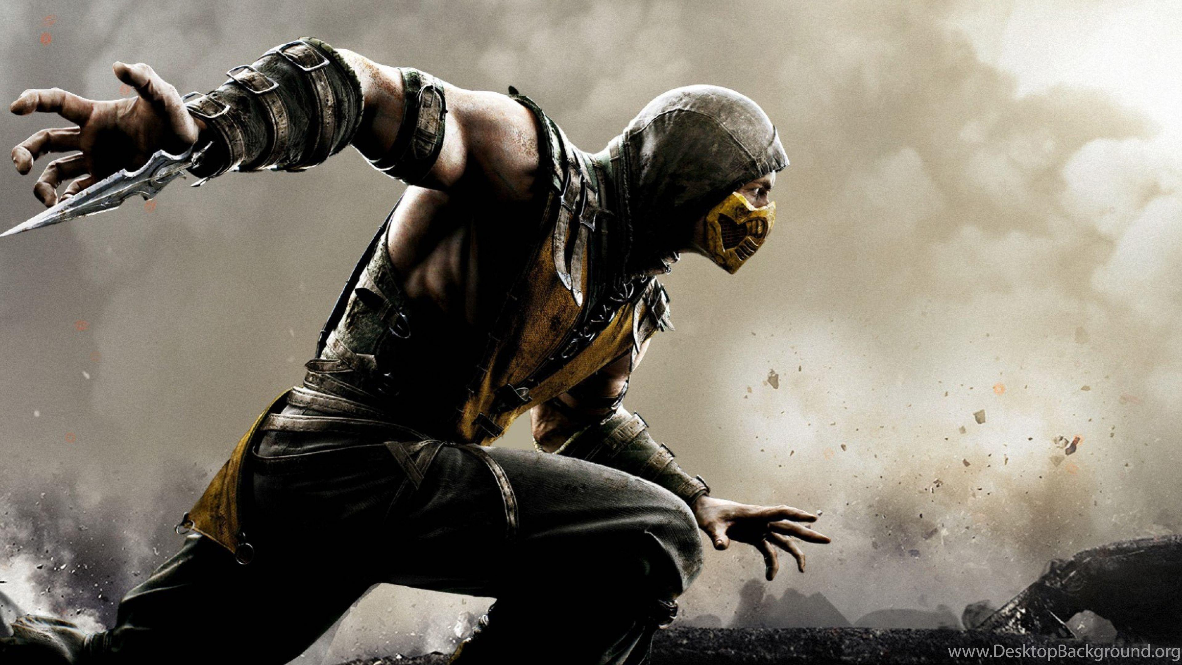 HD Backgrounds Mortal Kombat X Scorpion Wallpapers Desktop Backgrounds