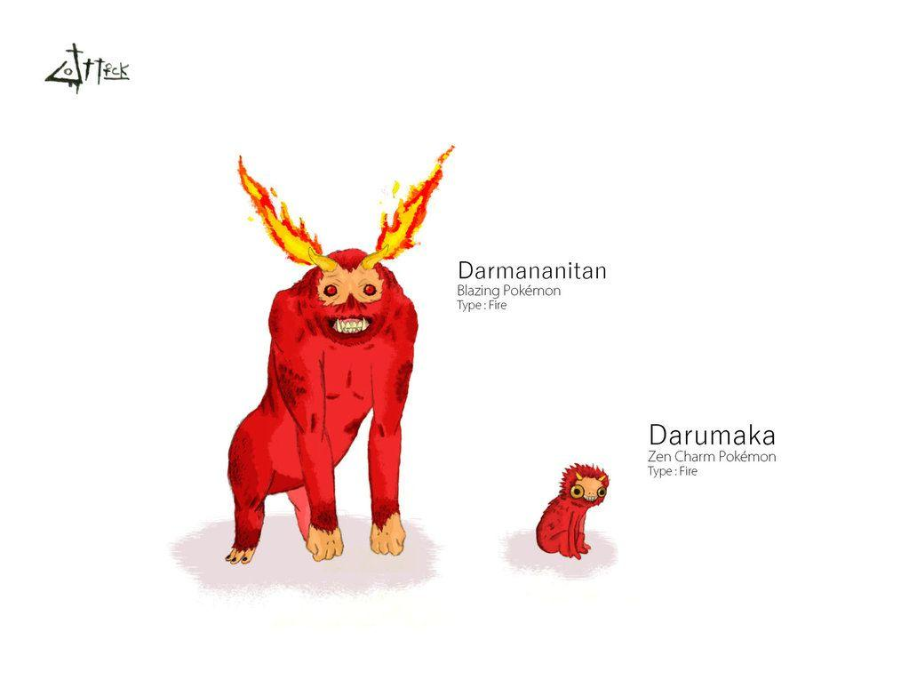 Darmanitan and Darumaka by Dr-Jottick on DeviantArt