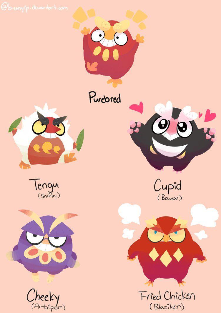 Darumaka Crossbreeds by b-unyip on DeviantArt