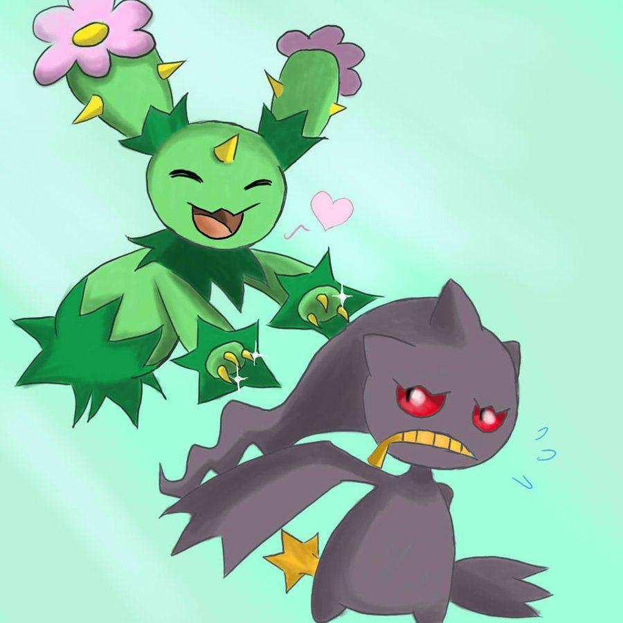 Maractus and Banette by Joltik92
