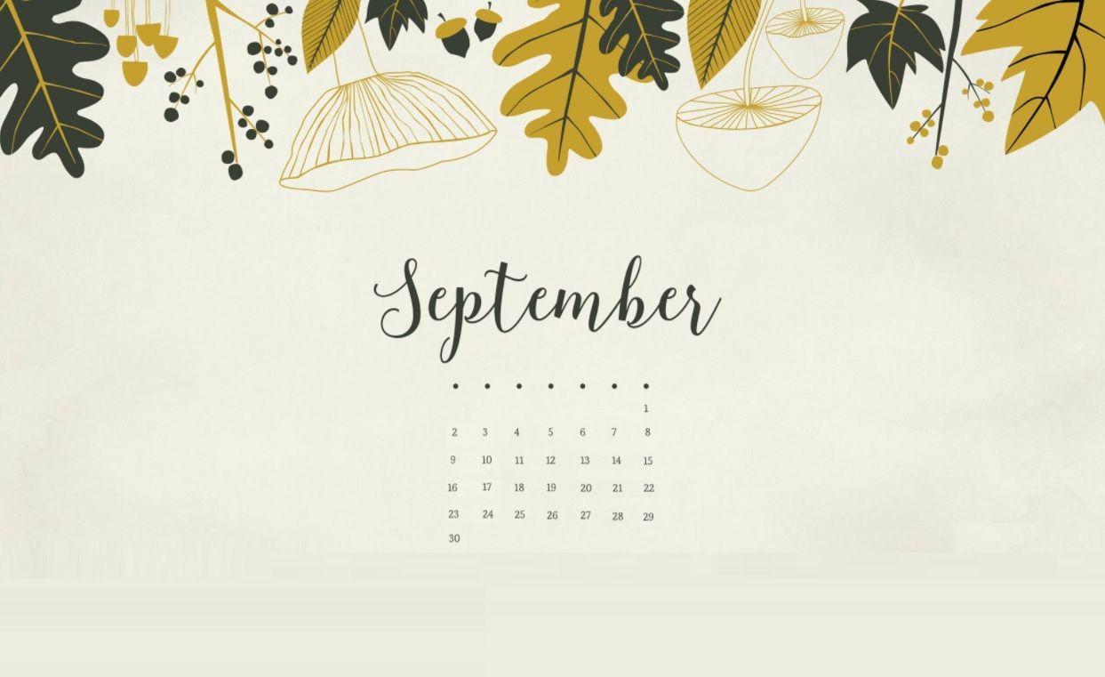 Calendar Desktop Wallpaper September : September calendar wallpapers wallpaper cave