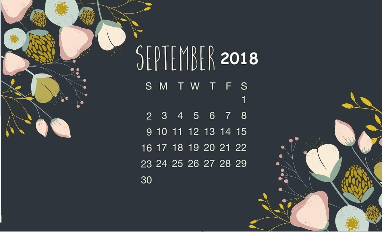 September 2018 Calendar Wallpapers Wallpaper Cave