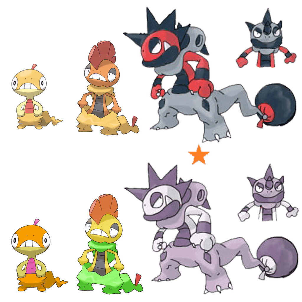 Scraggy Evolution by Midna