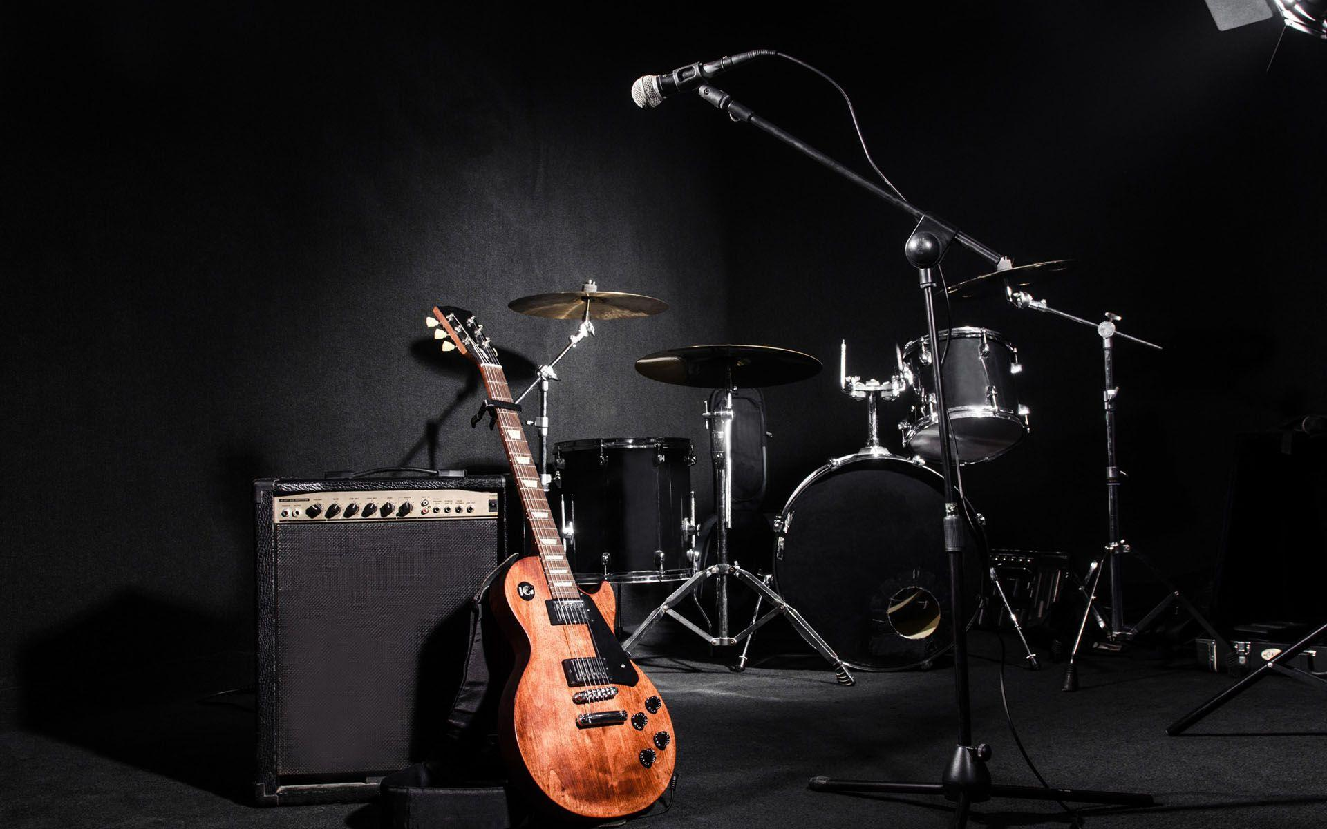 wallpaper.wiki-electric-guitar-image-with-drum-set-PIC-WPB006929 ...