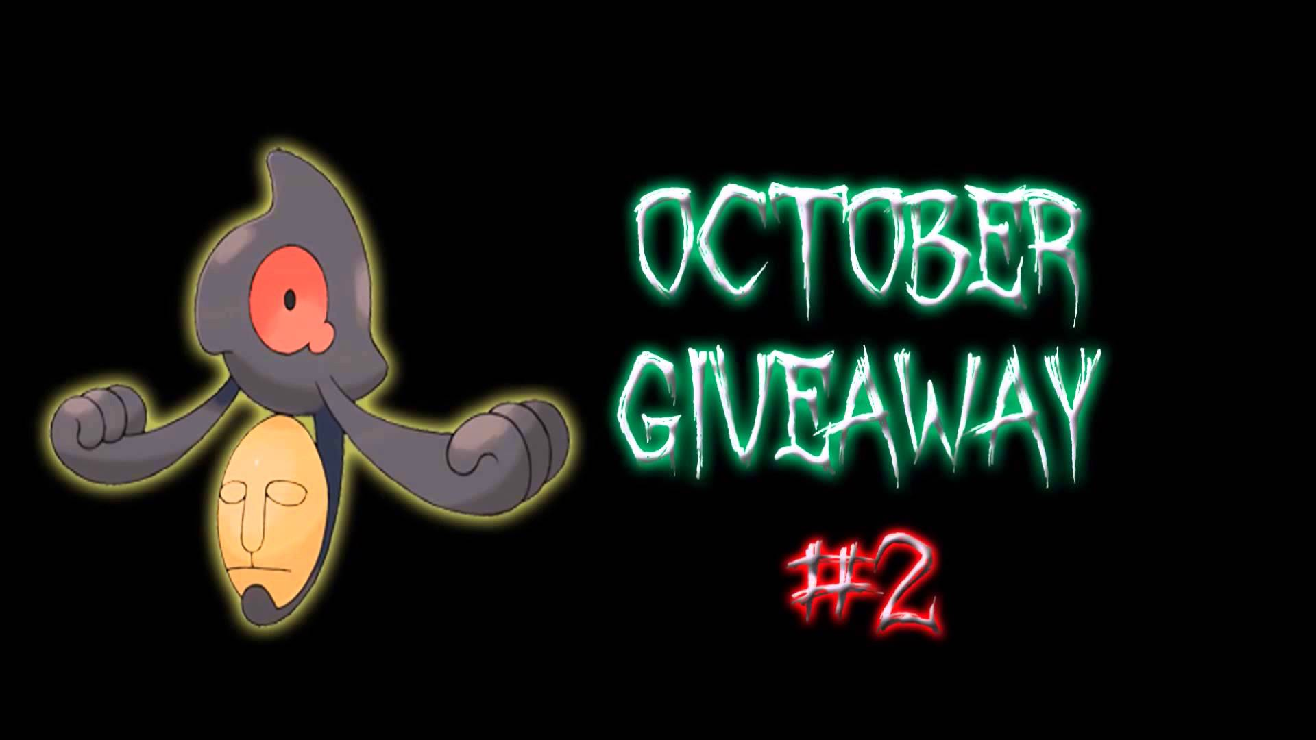 OCTOBER GIVEAWAY #2 - COMPETITIVE AND SHINY YAMASK! (CLOSED) - YouTube