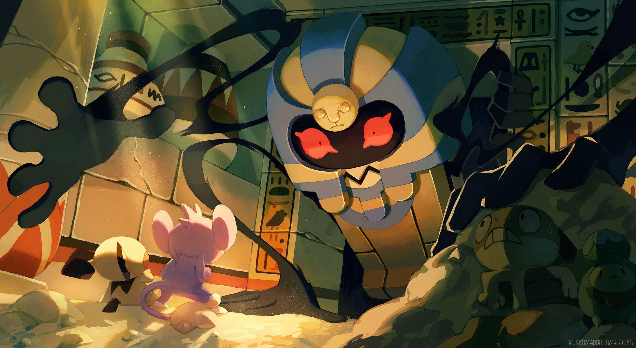 Cofagrigus art by BlueKomadori [2196x1200] : wallpapers