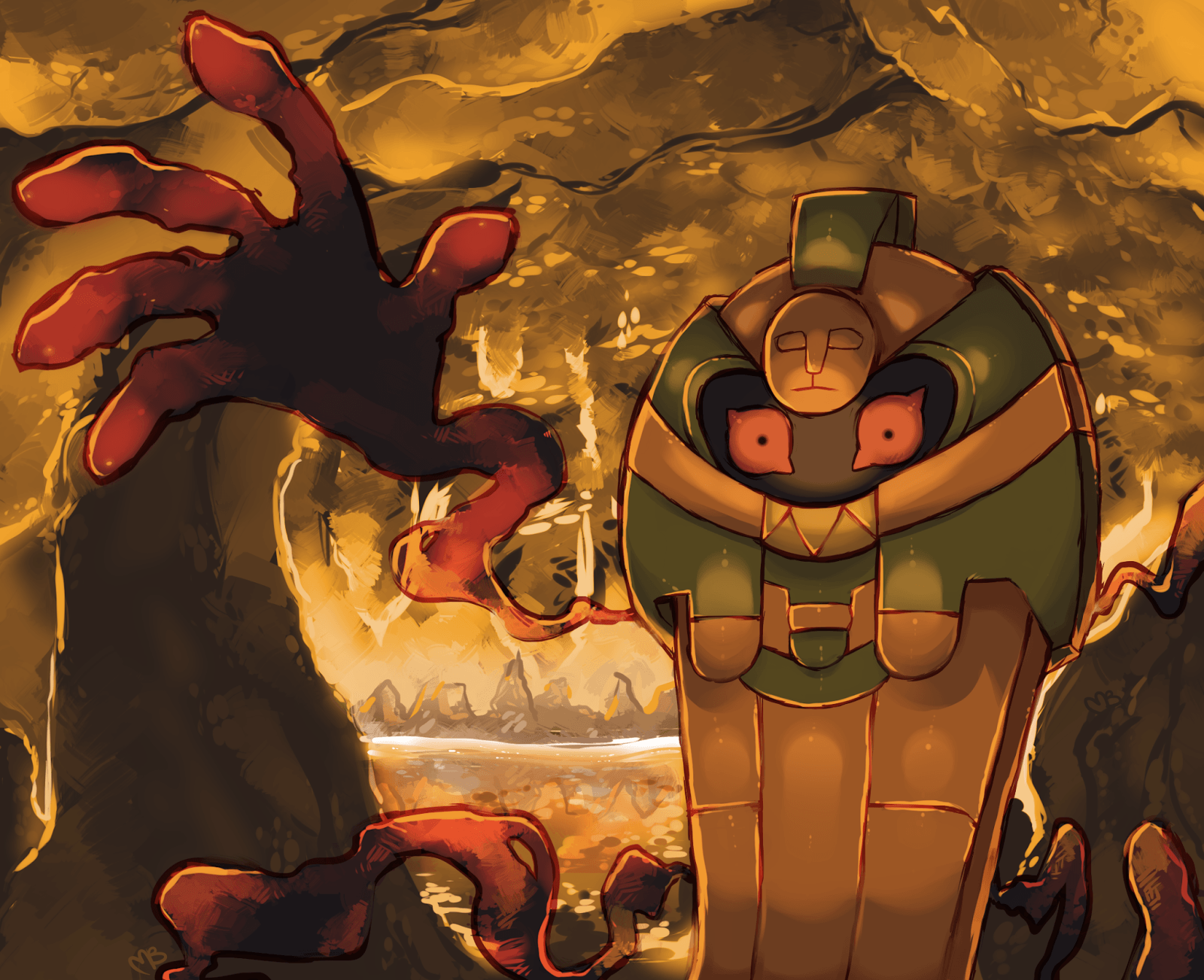 pokemon and cofagrigus Bild