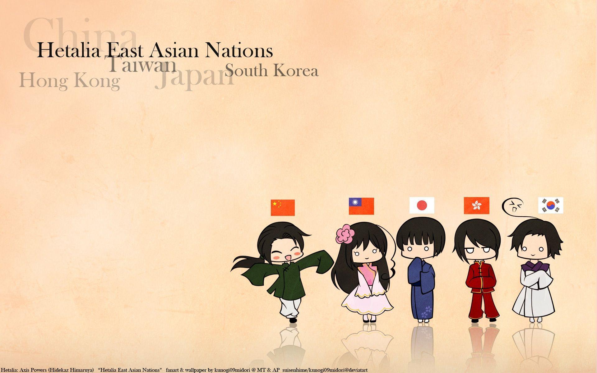 Japan China Chibi Hong Kong Korea Taiwan Anime Axis