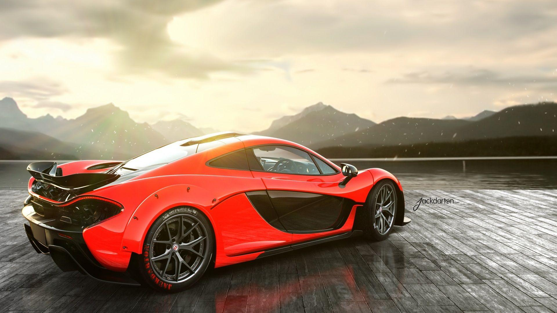 Awesome McLaren P1 Rear Wallpapers