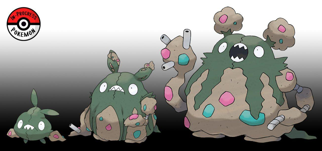 568 - 569 Trubbish Line by InProgressPokemon on DeviantArt