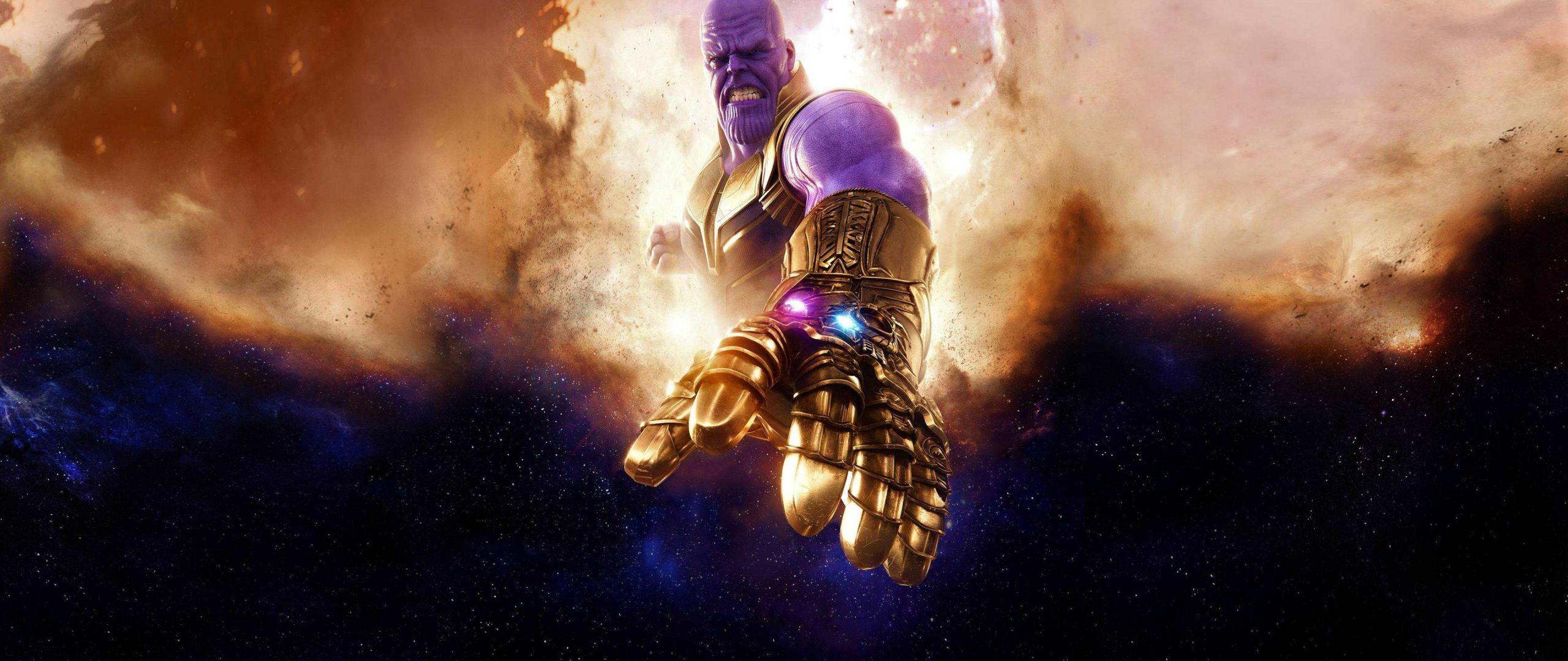 Download 2560x1080 wallpaper thanos, clouds, avengers: infinity war .