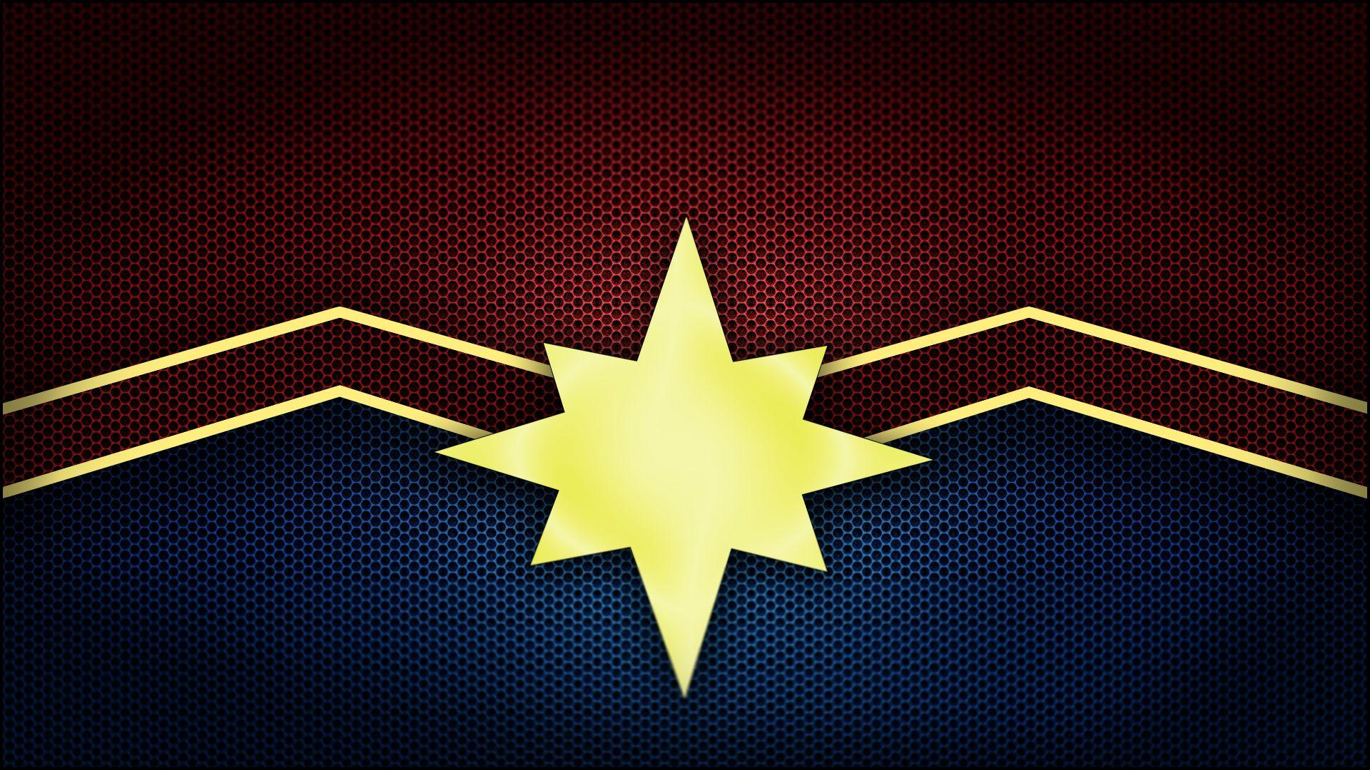 Captain Marvel Logo, HD Superheroes, 4k Wallpapers, Image