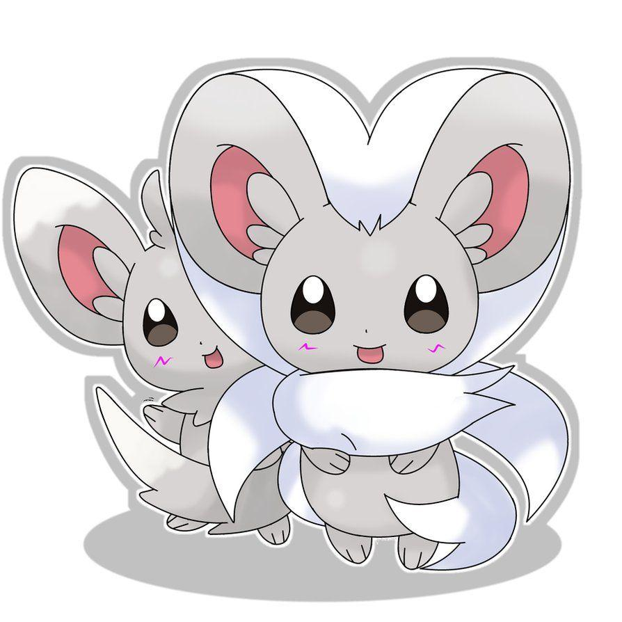 Minccino and Cinccino by hoyeechun on DeviantArt