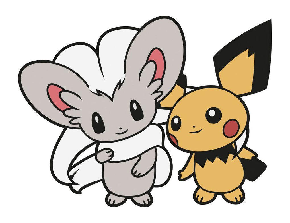 Cinccino and Pichu by Elenwae on DeviantArt