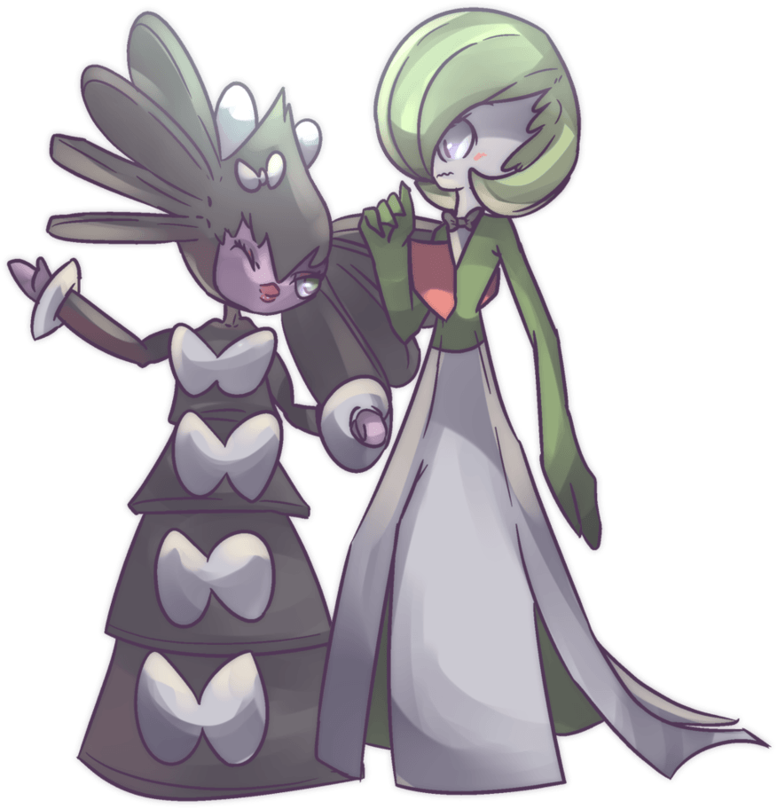 Gothitelle and Gardevoir Commission by AutobotTesla on DeviantArt