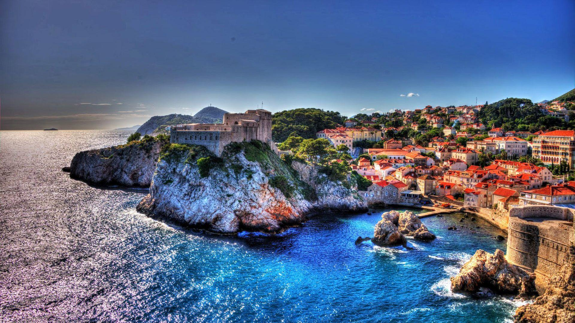Adriatic Dubrovnik Croatia Ancient City Walls And Historical