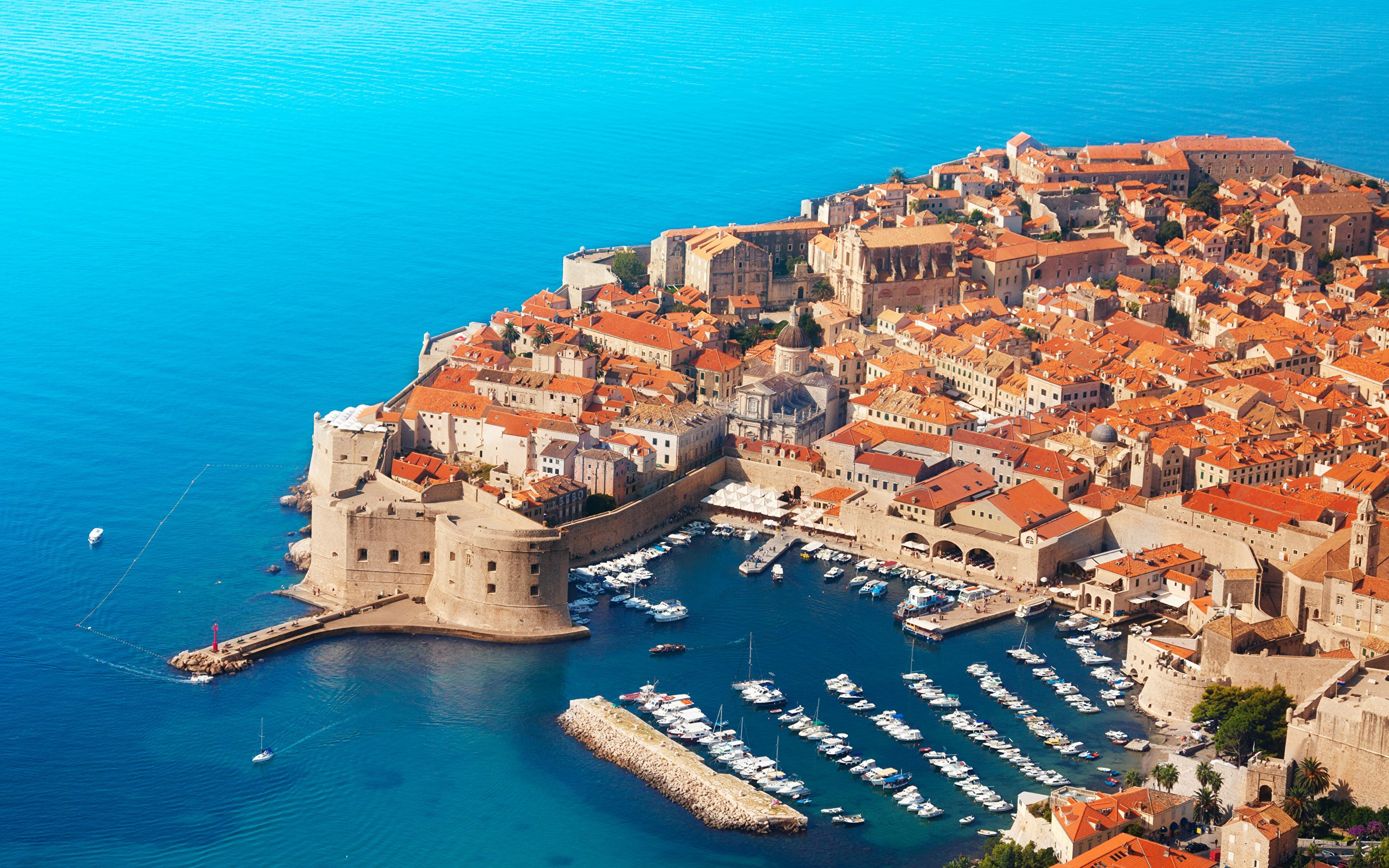 Wallpapers Croatia Dubrovnik Pier Coast powerboat From 2880x1800