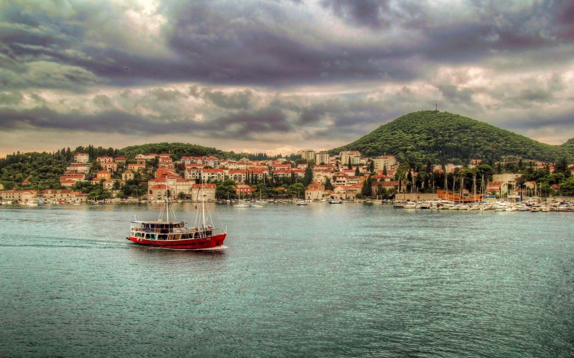 Dubrovnik, Croatia, Boat. Android wallpapers for free