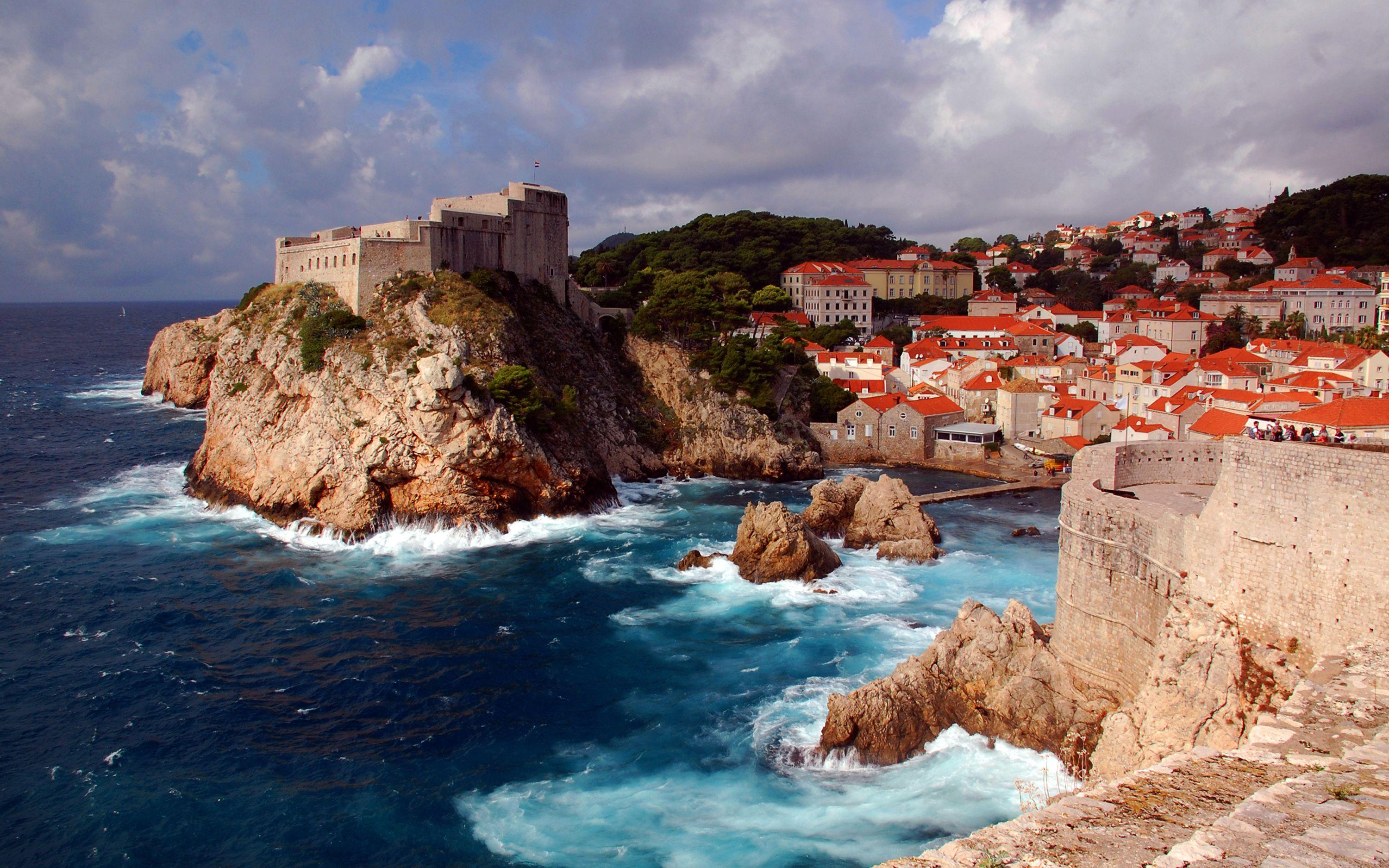 Dubrovnik, A Medieval Fortress Croatia Desktop Wallpapers Hd