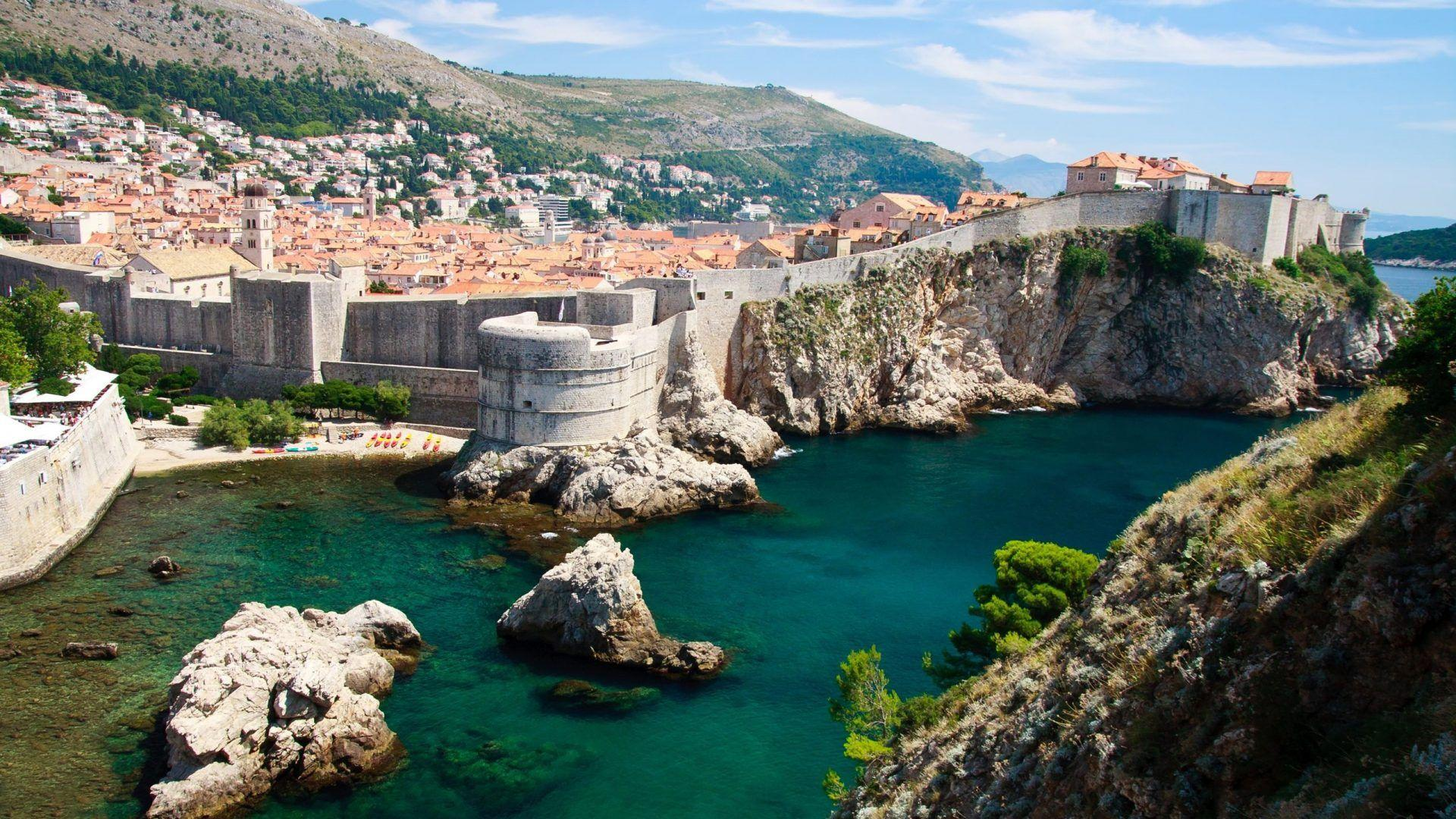 Desktop Wallpapers Hd Old City Walls In Dubrovnik, Croatia