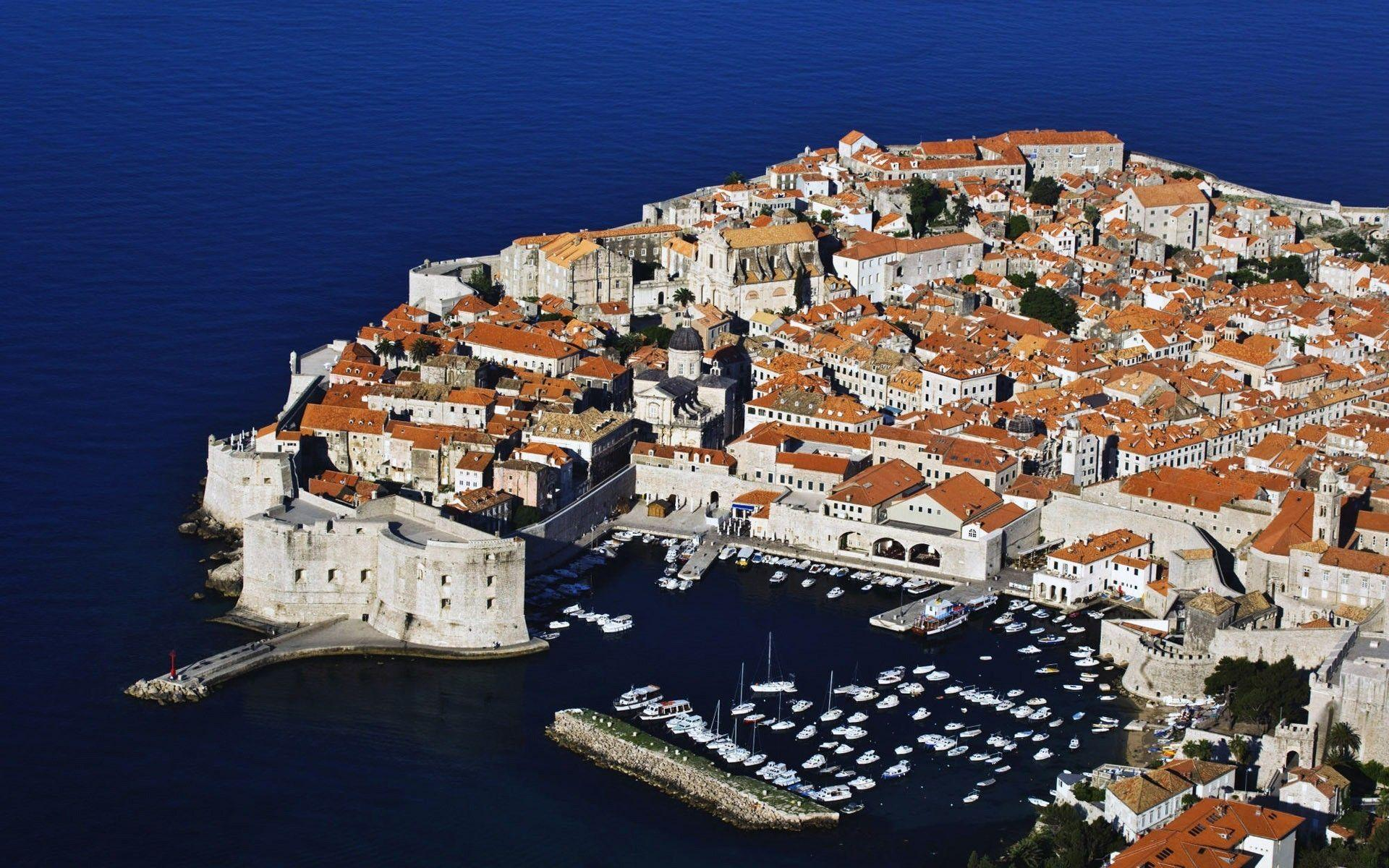 Croatia dubrovnik buildings ships towns wallpapers