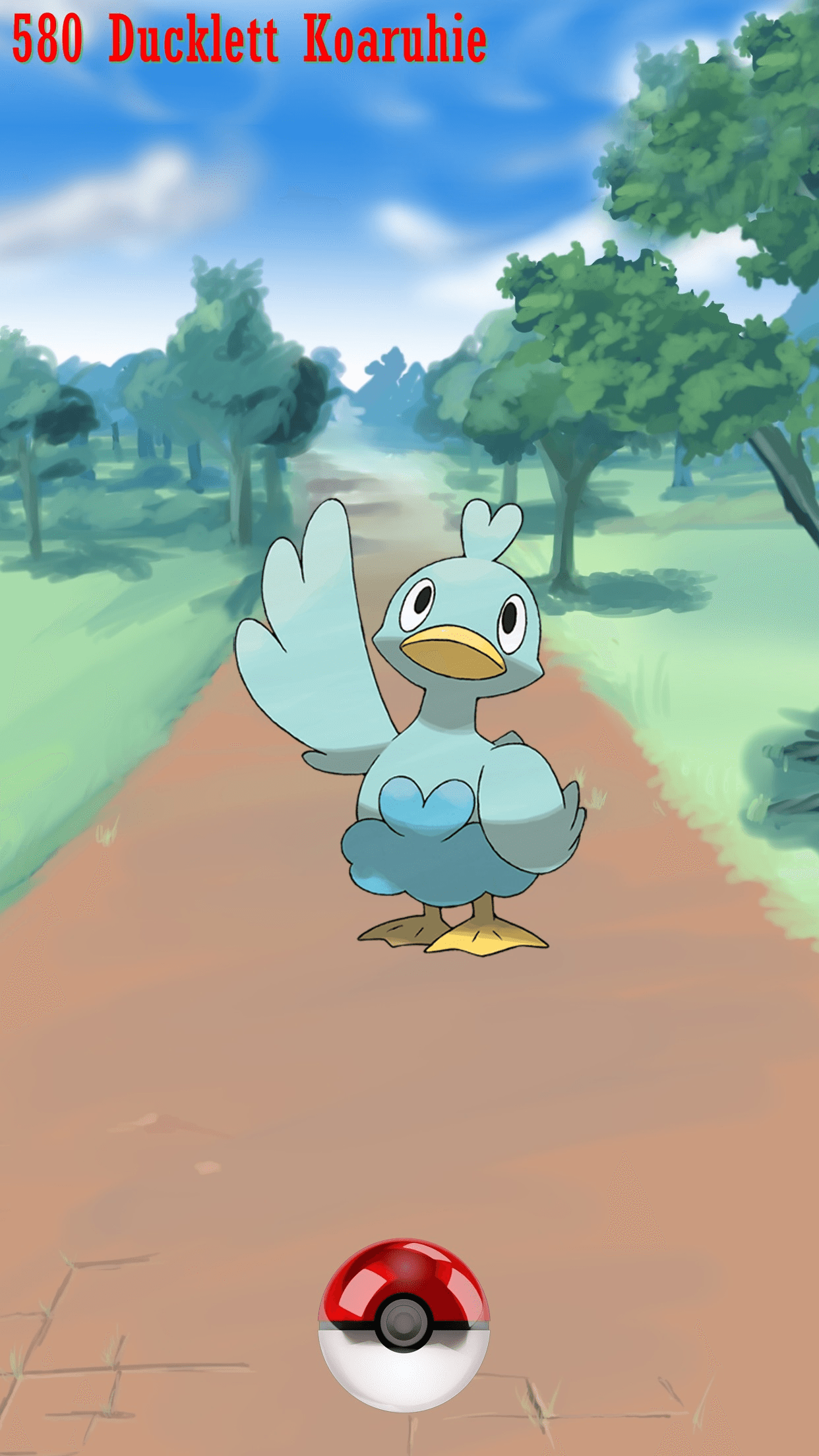 580 Street Pokeball Ducklett Koaruhie | Wallpaper
