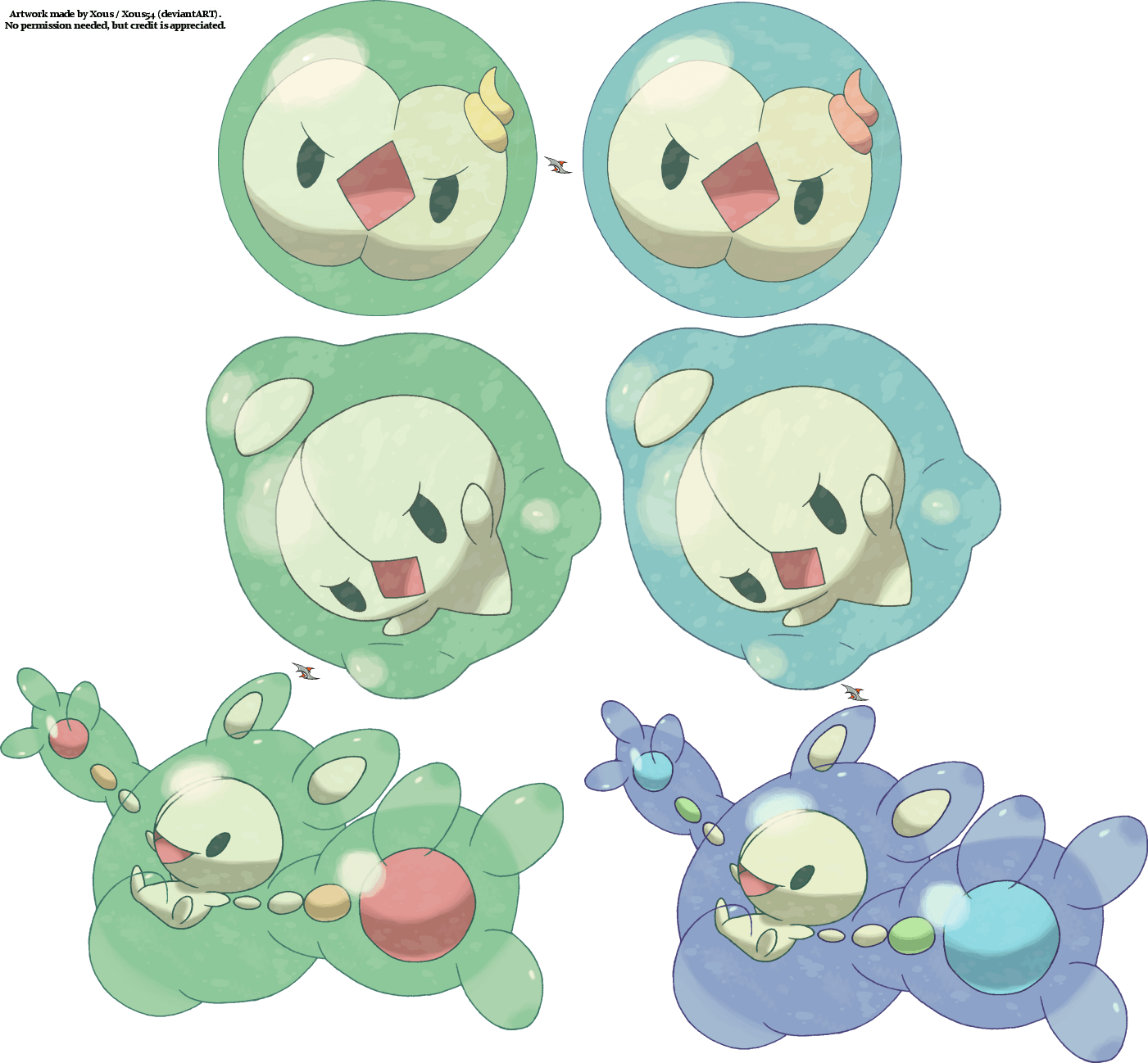 Solosis Duosion Reuniclus by Xous54