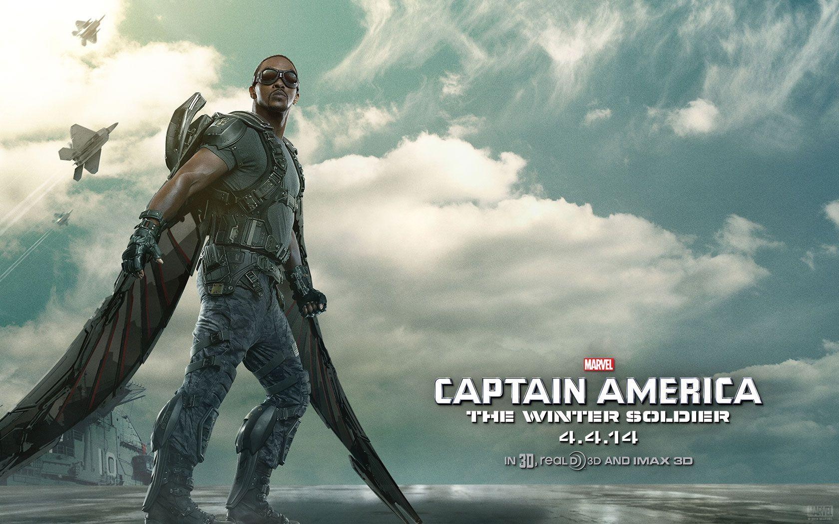 Captain America 2 falcon Wallpapers