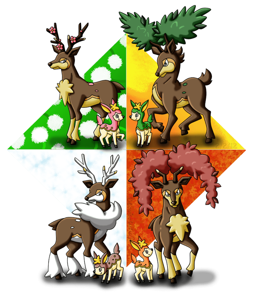 Deerling Seasons by louisalulu