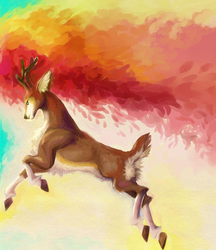 Sawsbuck -Autumn is coming by ~OmiSociel on deviantART | Awesome ...