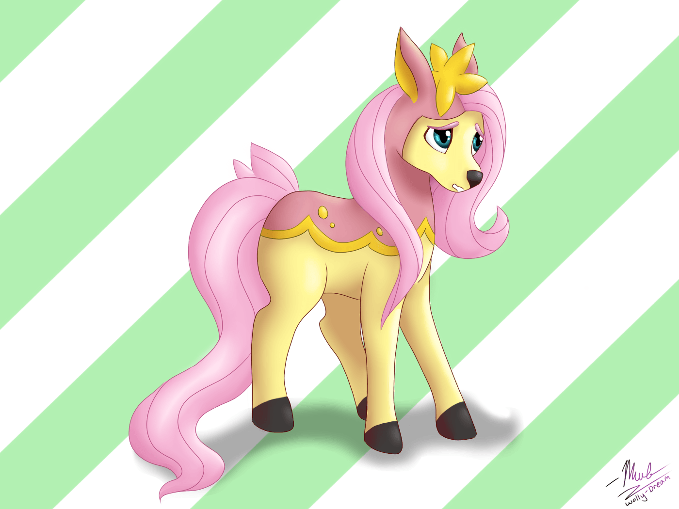 Deerling Fluttershy by Wolly