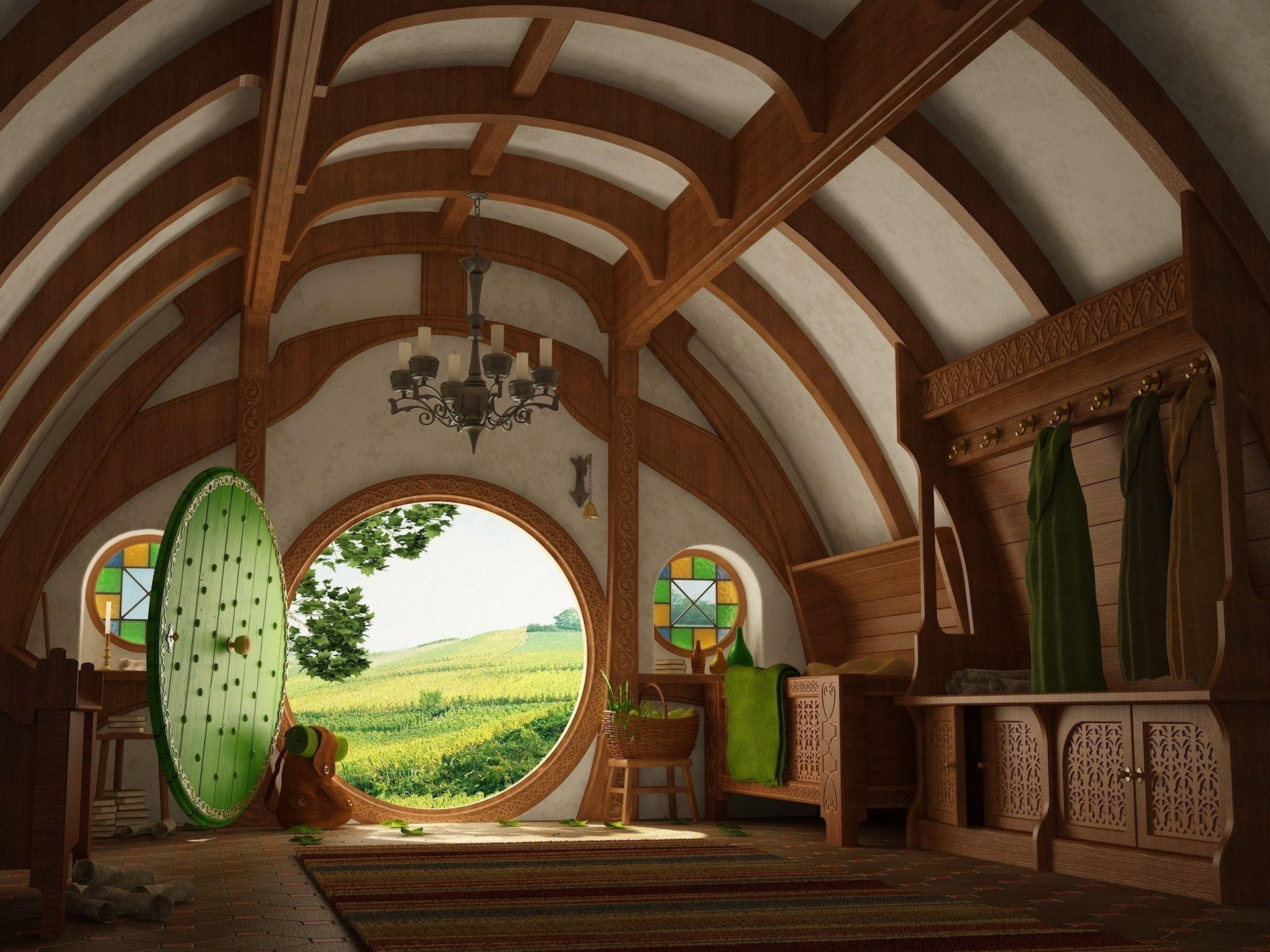 The hobbit Hobbiton the Shire middle earth. Android wallpapers for free